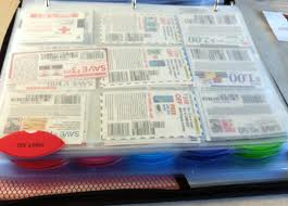 organizing coupons in a binder