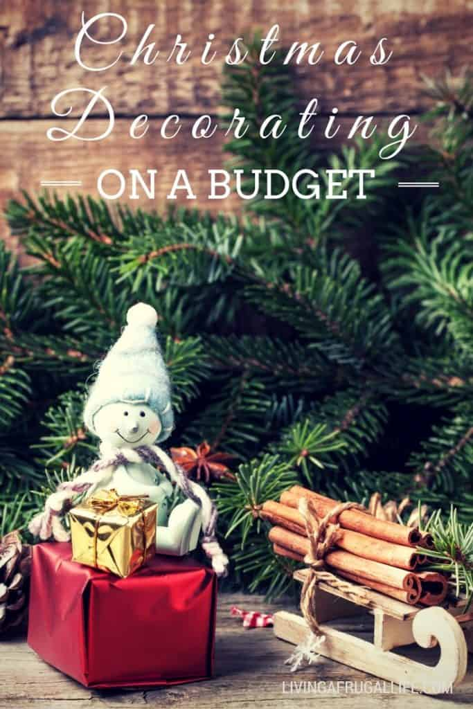 Use these tips for Christmas decorating on a budget to enjoy decorating your home on a budget for the holiday season!
