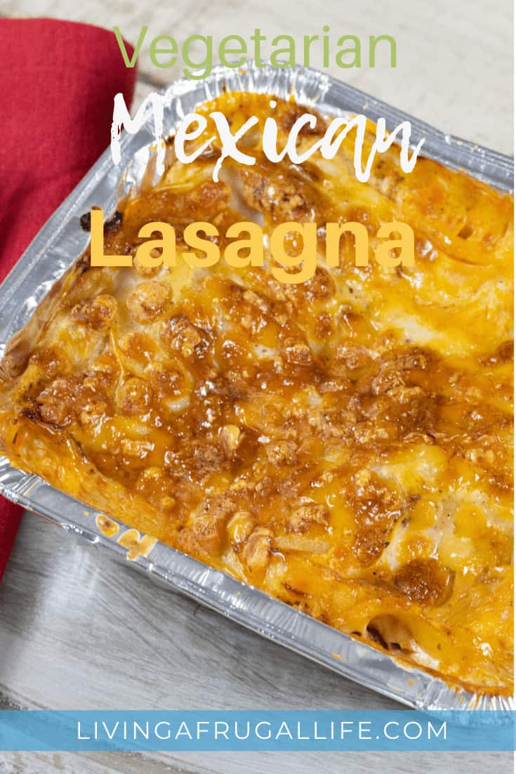 Vegetarian Mexican Lasagna with Tortillas and Refried Beans