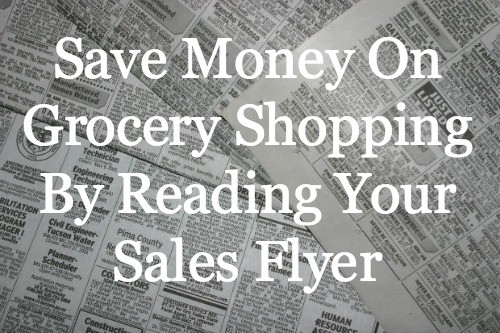 Learn how to Save Money On Grocery Shopping By Reading your sales flyer and using it in your shopping plan.