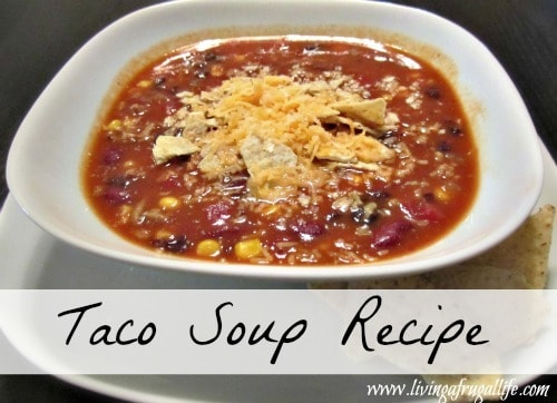 Frugal Family Taco Soup Recipe