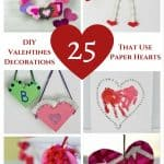 Are you looking for Easy DIY Valentine decorations that use paper hearts? These are easy ways to decorate your home in classy ways the family can enjoy!