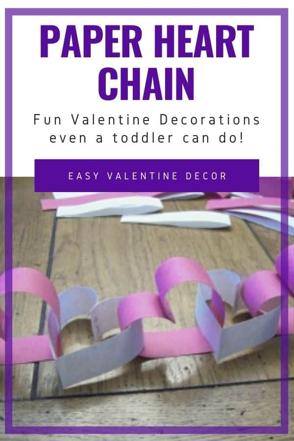 How to Make a Heart Shaped Valentines Countdown Chain Garland