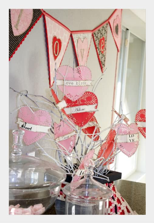 Frugal Valentine Decorations Using Doilies