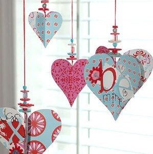 valentine heart and button decoration