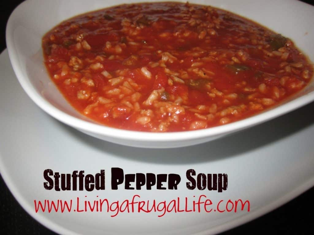 Frugal Recipe: Stuffed Pepper Soup
