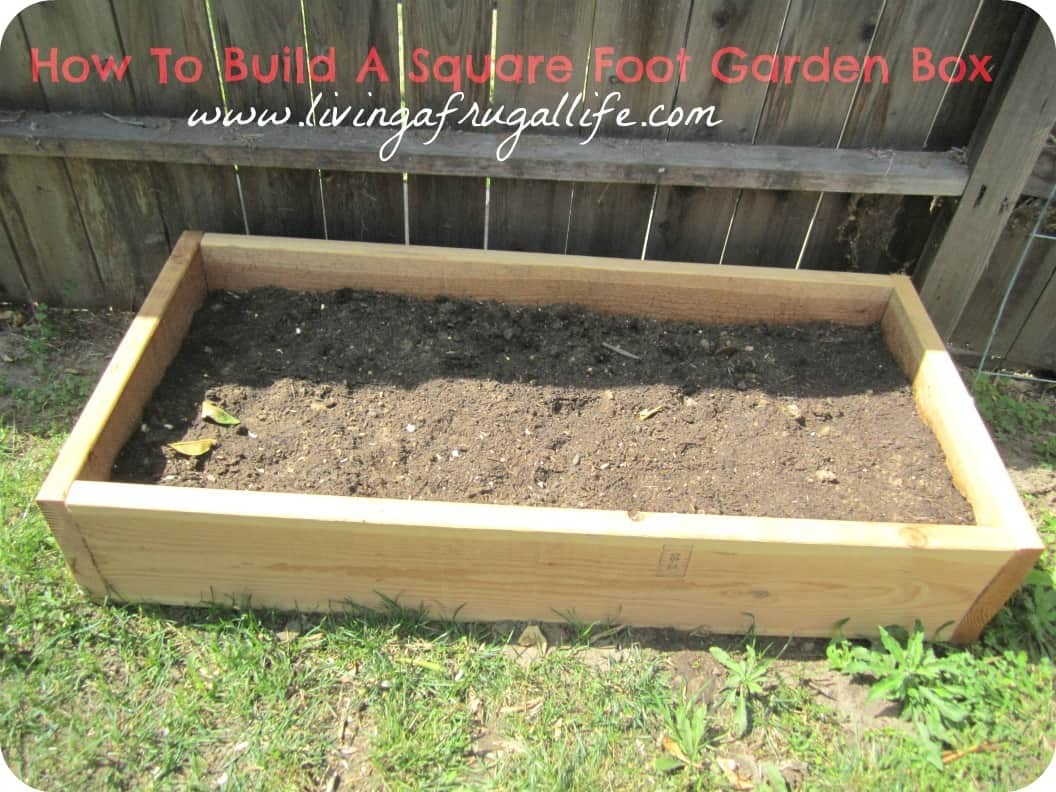 Woodwork build wood garden box pdf plans for Making a small garden