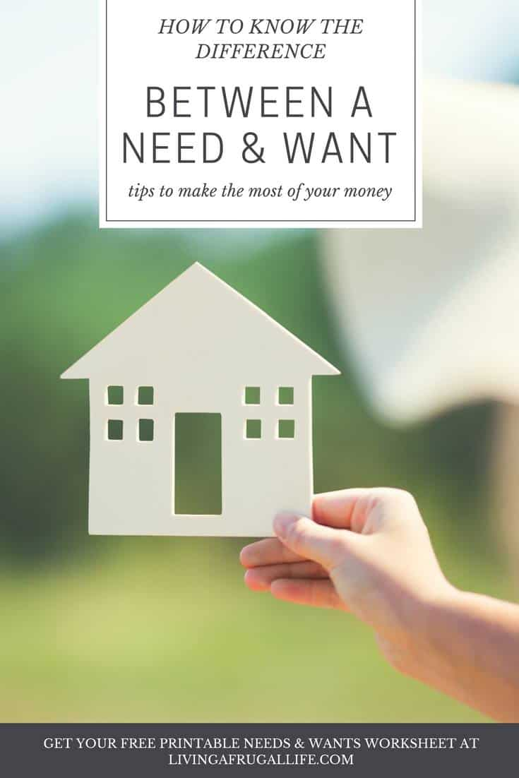 Knowing the Difference Between Need and Want: Free Needs and Wants List