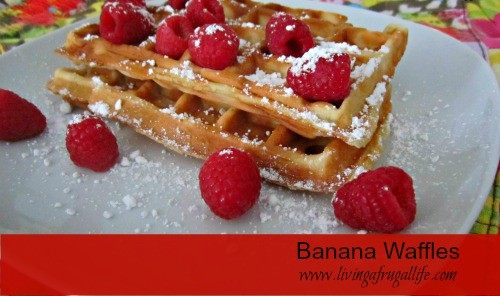 Healthy Recipe: Banana Waffles