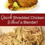 quick way to shred chicken