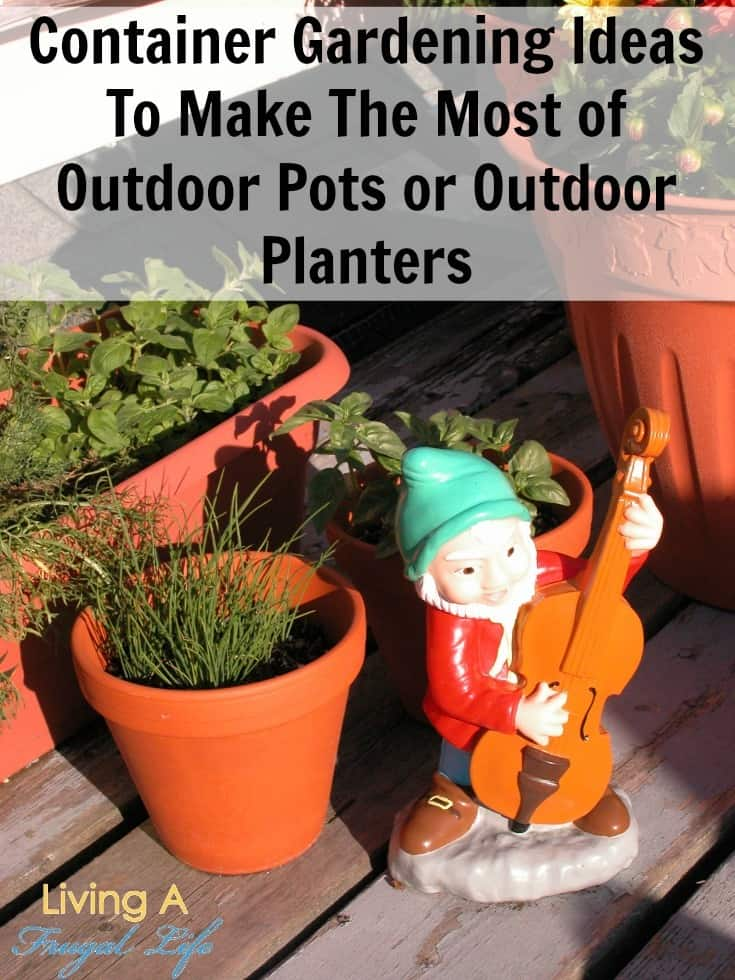 Clay colored outdoor pots and outdoor planters for container gardening
