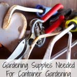 Gardening Supplies Needed For Container Gardening