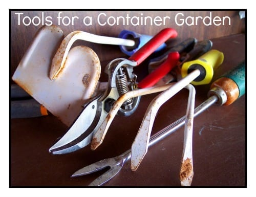 Gardening supplies needed for container gardening for Gardening tools you must have