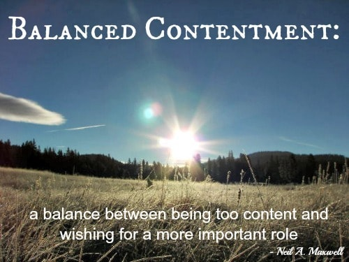 Balanced Contentment