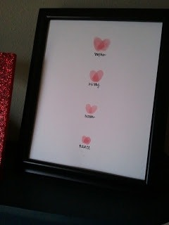 Finger Print Heart Art