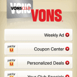 Vons Just for U App