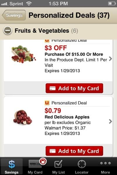 how to use the vons just for u app to save you money