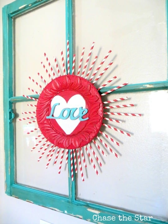 This Valentines Decoration Of Valentine Sunburst Is Cute For Any Size House  Or Budget! Also