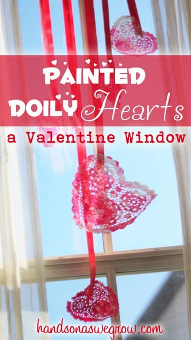Super cute valentine heart window decoration
