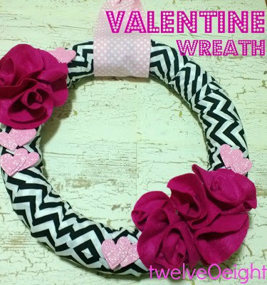 valentine heart wreath