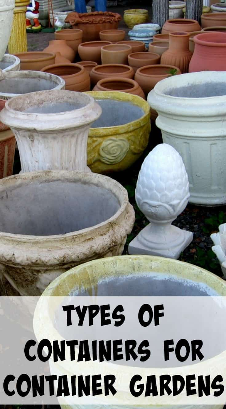 A list of ideal containers for container gardening vegetables! Includes tips for how to choose the right pot and what pots will be best for your vegetables. There are many different types so find what is right for your plant!