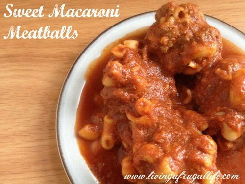 Easy Dinner Ideas: Macaroni Meatballs