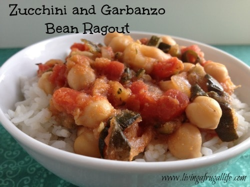 Healthy Zucchini and Garbanzo Bean Ragout Recipe