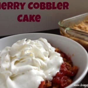 frugal cherry cobbler cake recipe