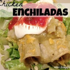 Budget Chicken Enchiladas