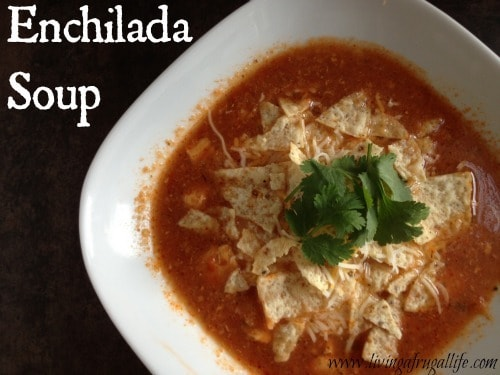 This is a favorite soup in our house! it is make with tomatoes, chicken, spices and more! IT is great with sour cream, cheese and chips on top!