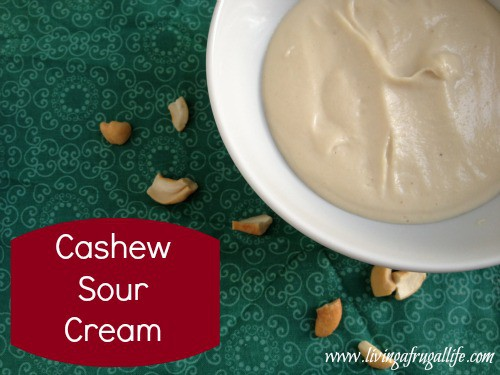 Frugal Recipes: Frugal Dairy Free Cashew Sour Cream Substitute