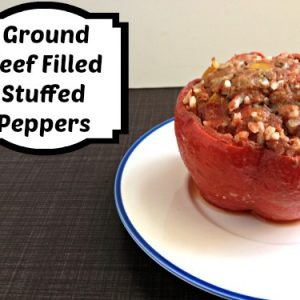 Stuffed Peppers Ground Beef Filled