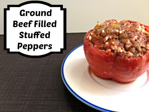 Stuffed Peppers: Ground Beef Filled
