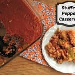 Stuffed Pepper Casserole is the best mix of stuffed peppers and a 1 dish casserole! it is easy to make and is simple ingrediaents of -beef - tomato sauce - bell peppers - rice and more!