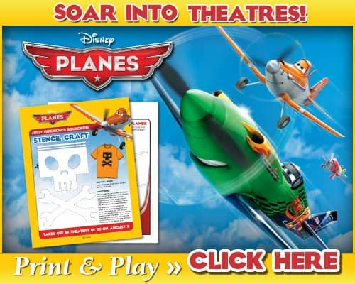 Free Disney's Planes Printable Activity Sheets