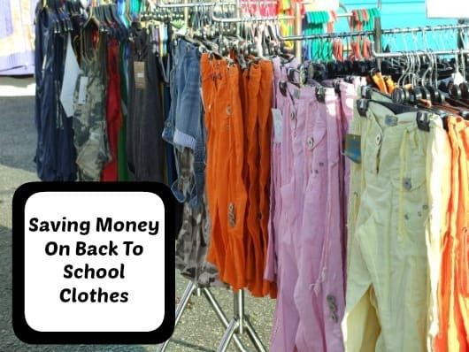 Saving Money On Back To School Clothes