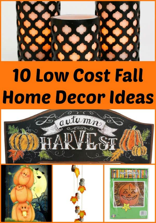 10 Low Cost Fall Home Decor Items