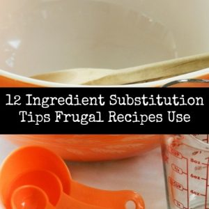 Ingredient Substitution Tips Frugal Recipes Use
