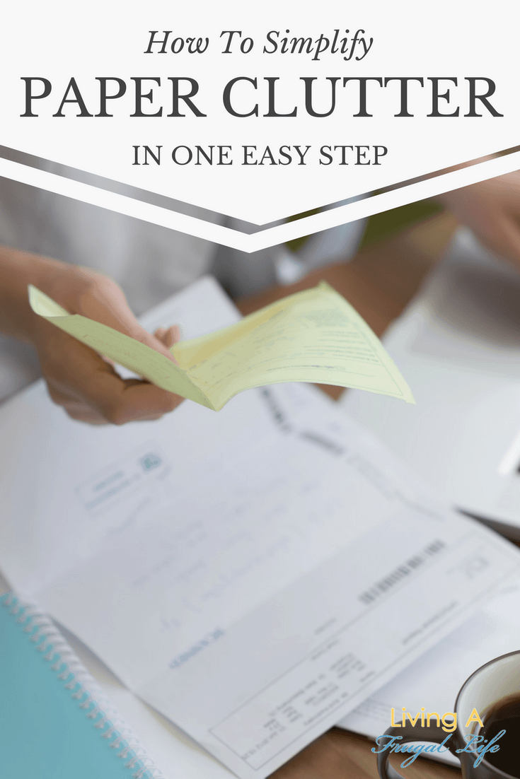 Simplify paper clutter with these simple tips! these will help you have an organized and simple way to get your paper under control and easy to see.