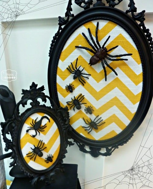 DIY Halloween Chevron Spider Art