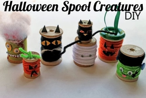 DIY Halloween Spool Creatures