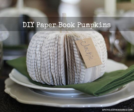 DIY Paper Book Pumpkin