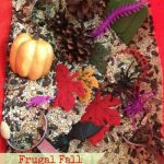 Simple Fall Sensory Bin On A Dollar Store Budget