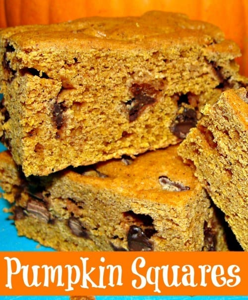 Frugal pumpkin squares Recipe