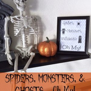 This easy halloween decor DIY will liven up your home in seconds and make it ready for the holidays!