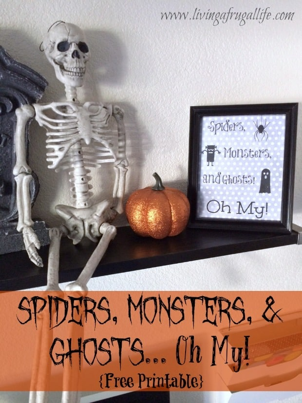 Halloween Decor DIY: Spiders and Monsters and Ghosts Printable