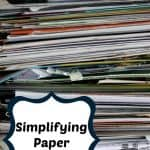 How to Simplify Paper Clutter In Your Home