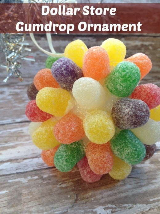 DIY Christmas Ornaments: Dollar Store Gumdrop Ornament