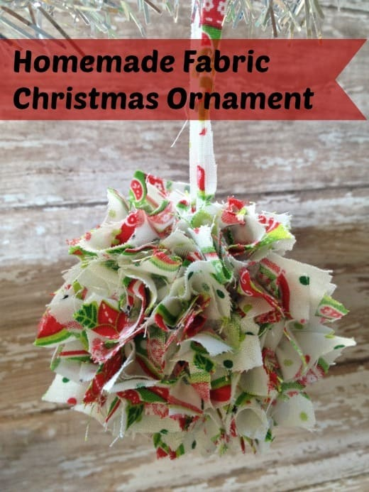 Fill your tree with this frugal fabric christmas ornament. It is super easy to make and would be a fun craft to do with your kids!
