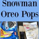 No Bake Snowman Oreos Dipped in White Chocolate
